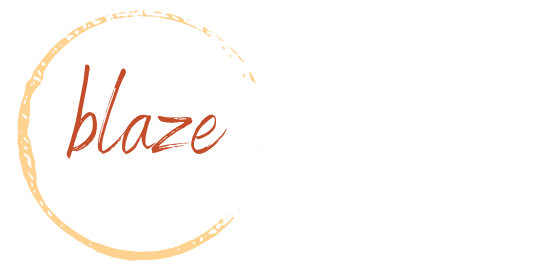 Blaze Digital Services logo transparent white
